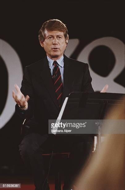 TV commentator Ted Koppel in New York City 14th September 1988