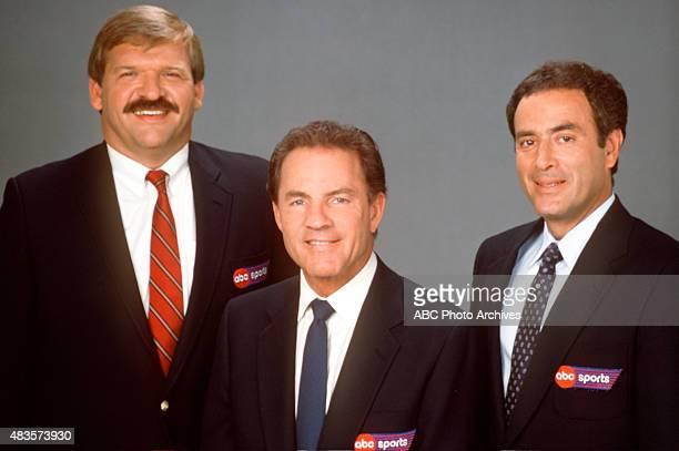 FOOTBALL Commentators gallery 3/1/89 Dan Dierdorf Frank Gifford Al Michaels Mandatory credit ABC