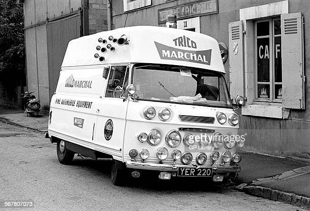Commer Trico Marchal Support van at Le Mans 24Hours race France 1963