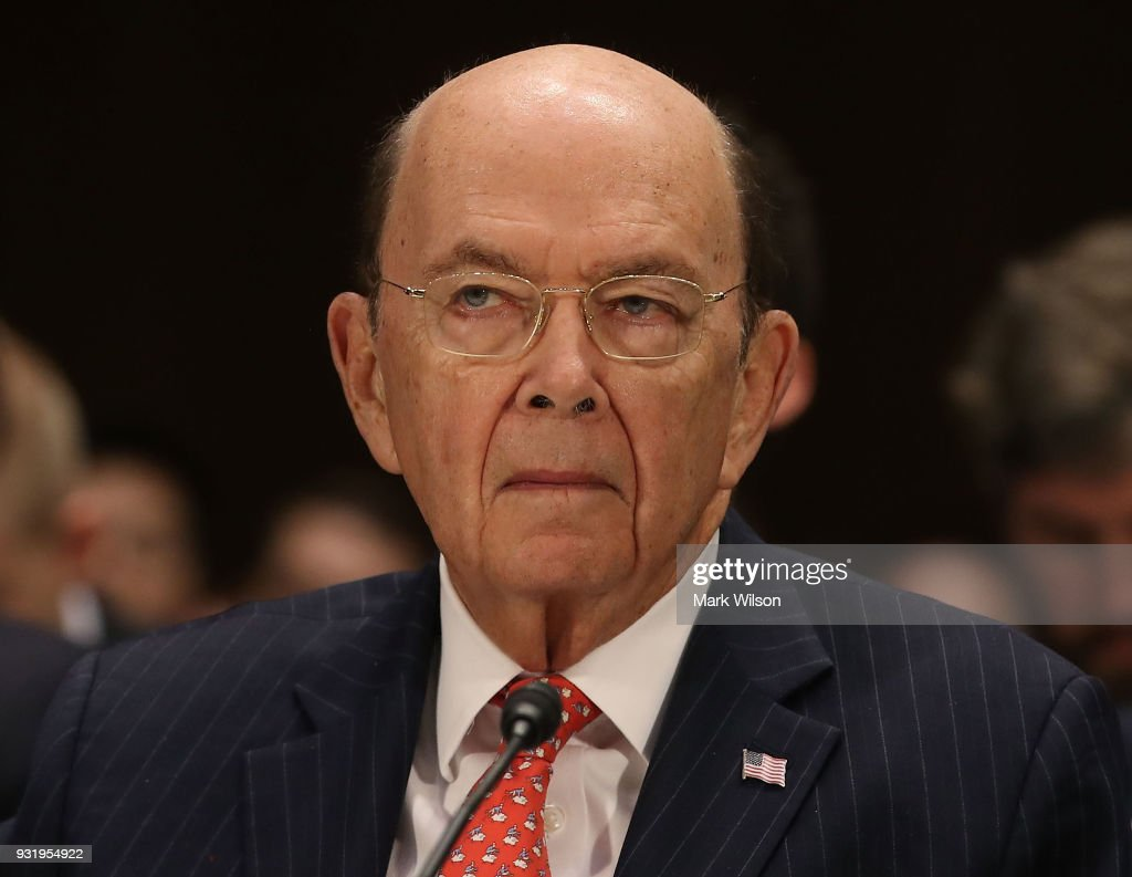 Commerce Secretary Wilbur Ross, appears before the Senate Commerce, Science and Transportation Committee, on March 14, 2018 in Washington, DC. The committee is hearing testimony on President Donald Trump's plan to rebuld the nations infrastructure.