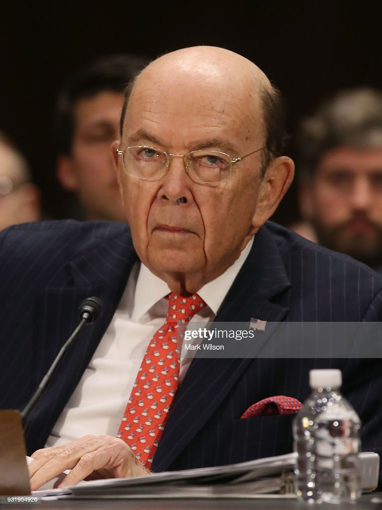 Commerce Secretary Wilbur Ross, appears before the Senate Commerce, Science and Transportation Committee, on March 14, 2018 in Washington, DC. The committee is hearing testimony on President Donald TrumpsÕs plan to rebuld the nations infrastructure.