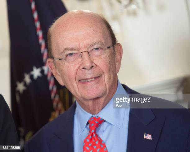 US Commerce Secretary Wilbur Ross attends a signing of a memorandum on addressing China's laws policies practices and actions related to intellectual...
