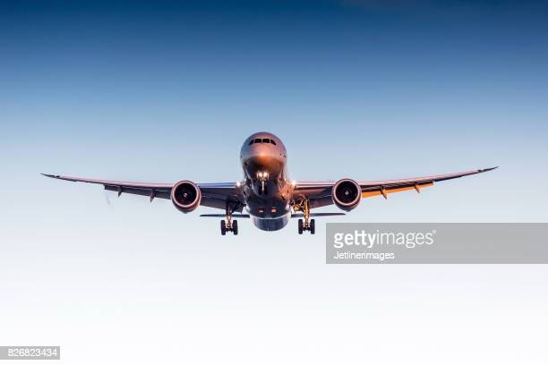 commercial airliner - cargo airplane stock photos and pictures