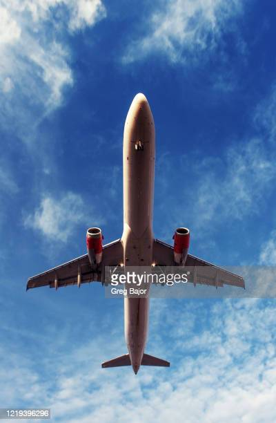 commercial airplane - greg bajor stock pictures, royalty-free photos & images