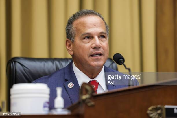 Commercial and Administrative Law House Subcommittee Chairman Rep. David Cicilline speaks during the House Judiciary Subcommittee on Antitrust,...