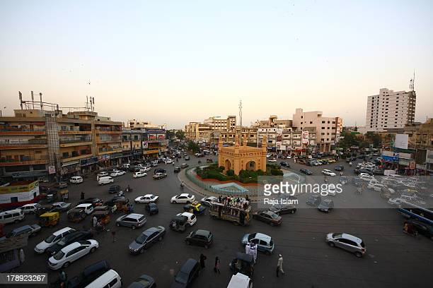 Commercial and busy market of Karachi