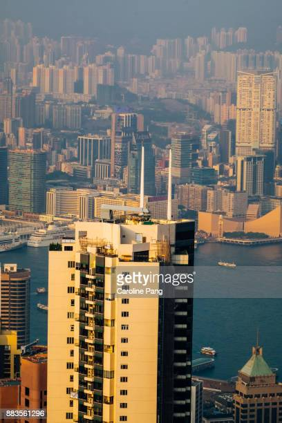Commercial and residential buildings in Hong Kong.