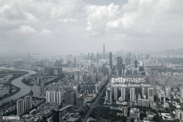 Commercial and residential buildings in Shenzhen, China
