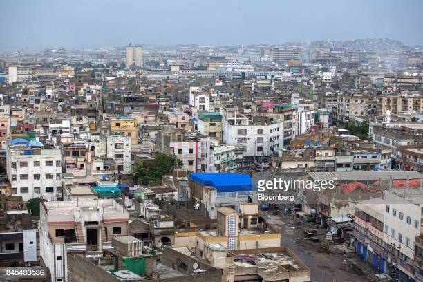 Commercial and residential property stands in Karachi Pakistan on Wednesday Aug 23 2017 The appeal of Karachi home to about 15 million people two...