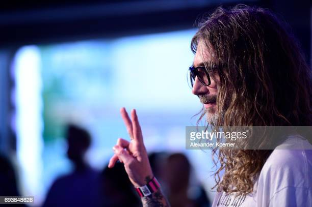 Commercial Artist Fergus Purcell arrives for the Bread Butter by Zalando 2017 Preview Event at Holzmarkt25 on June 8 2017 in Berlin Germany