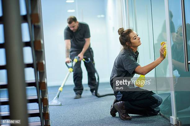 commercial cleaning contractors - commercial cleaning stock photos and pictures