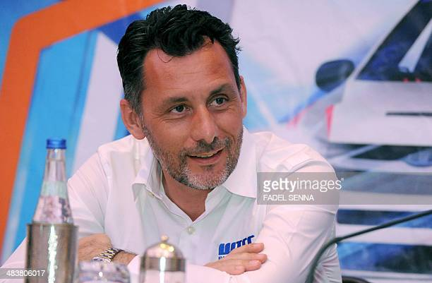 Commercial Director Francois Ribeiro attends a press conference ahead of the first round of the World Touring Car Championship , on April 10, 2014 in...