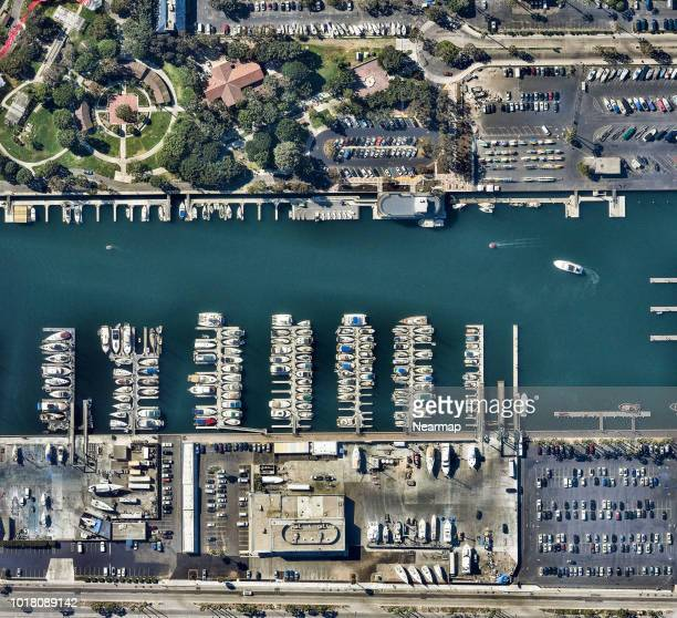 Commercial docks, Los Angeles, California, USA