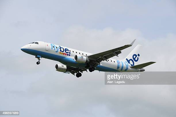 commercial flight, u.k. - flybe stock pictures, royalty-free photos & images