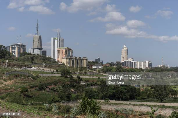 Commercial high-rise office buildings in Nairobi, Kenya, on Saturday, Dec. 5, 2020. Kenya is seeking a loan of as much as $2.3 billion from the...