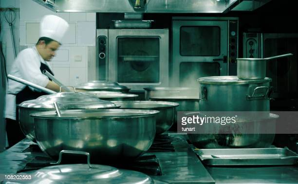 commercial kitchen - stew pot stock pictures, royalty-free photos & images