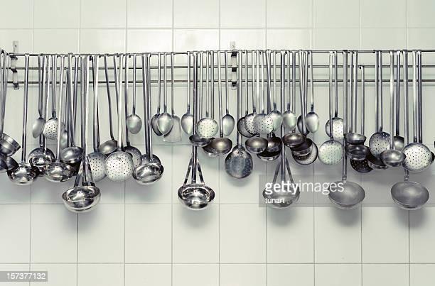 gewerbliche küche - küchenbedarf stock-fotos und bilder