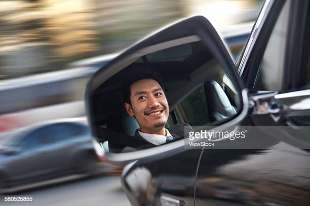 Commercial man driving