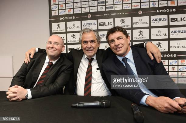 Commercial manager for Infront Sport and Media JeanFrançois JeanneStade Toulousain Rugby club president Jean Rene Bouscatel and former Toulouse...