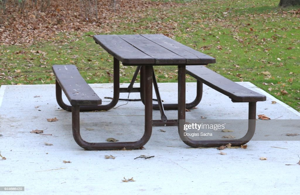Excellent Commercial One Piece Picnic Table At A Public Park High Res Machost Co Dining Chair Design Ideas Machostcouk