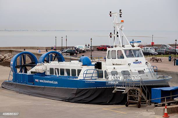 commercial passenger hovercraft - portsmouth england stock photos and pictures