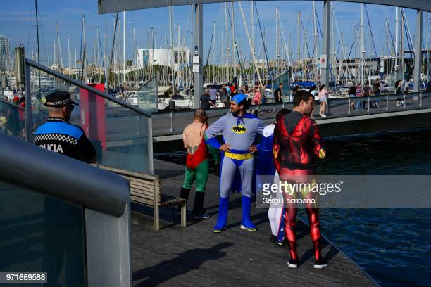 commercial port of barcelona - robin superhero stock pictures, royalty-free photos & images