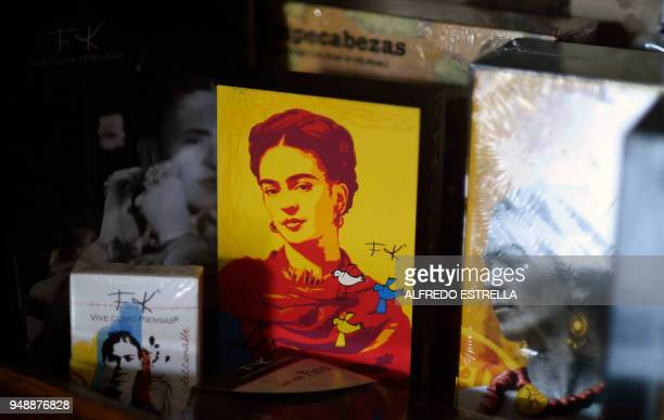 Commercial products with the image of late Mexican artist Frida Kahlo are exhibited at her sister's house in the neighborhood of Coyoacan Mexico City...