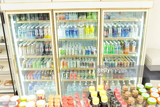 commercial refrigerator - convenience store stock photos and pictures