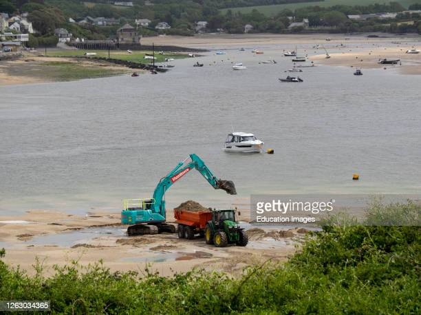 Commercial Sand Extraction, Padstow, Cornwall, UK.