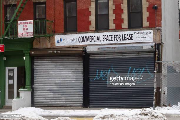 Commercial space for rent during pandemic, Manhattan, New York.