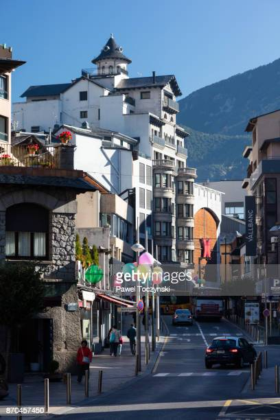 Commercial street in Andorra