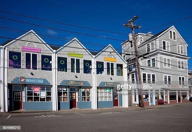 商業通りでブースベイハーバー、メイン州 - ブースベイハーバー ストックフォトと画像