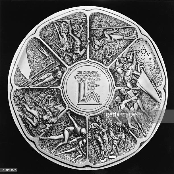Commercially produced medallion designed by Marcel Jovine and sold to commemorate the 13th Winter Olympics in Lake Placid, New York, 1980. The medal...