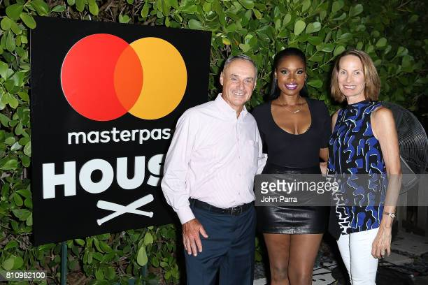 Commisioner of Major League Baseball Robert Manfred Jennifer Hudson and Colleen Manfred attend SU2C Jennifer Hudson Concert At The Masterpass Houseon...