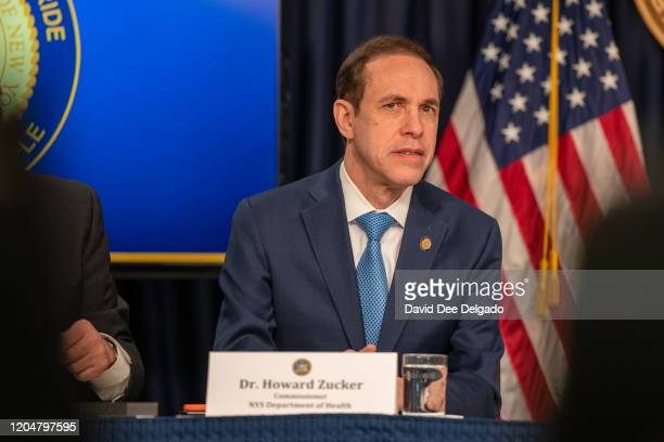 Commisioner of New York State Department of Health Dr Howard Zucker participates in a news conference on the first confirmed case of COVID19 in New...