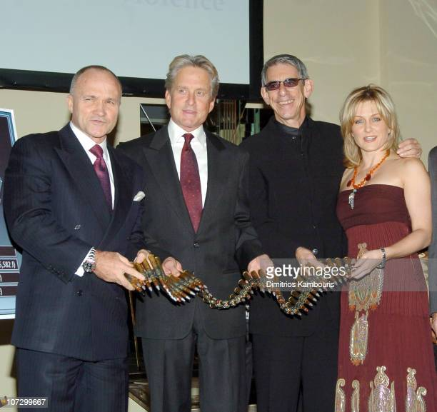 Commisioner Ray Kelly Michael Douglas Richard Belzer and Amy Carlson