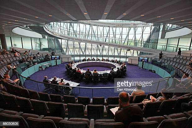 Commisioner Sir Paul Stephenson meets with Mayor Boris Johnson and members of the Metropolitan Police Authority at City Hall on May 28, 2009 in...