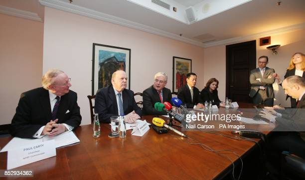 NPRF commission chairman Paul Carty Finance Minister Michael Noonan Tanaiste and Minister for Foreign Affairs Eamon Gilmore Raymond Yang Managing...