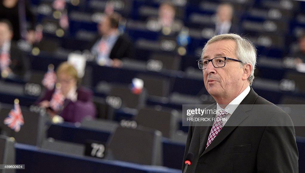 FRANCE-EU-INVESTMENT-ECONOMY-PARLIAMENT : News Photo