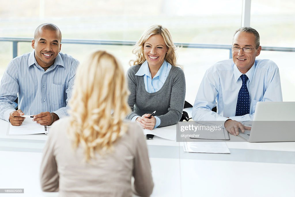 Commission having a Job interview. : Stock Photo