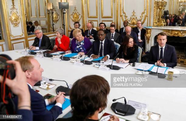 EU Commission President JeanClaude Juncker Britain's Prime Minister Theresa May Norway's Prime Minister Erna Solberg Senegal's President Macky Sall...