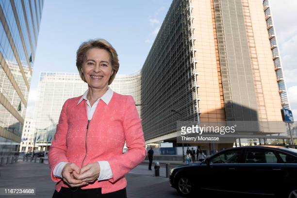 Commission Presidentelect Ursula von der Leyen is posing in front of the Berlaymont the EU Commission headquarter on September 10 2019 Today the...