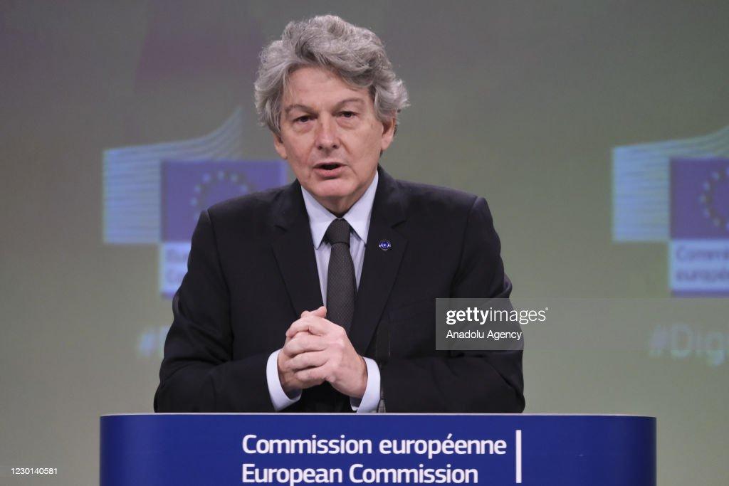 EU Commission Vice President Margrethe Vestager and ...