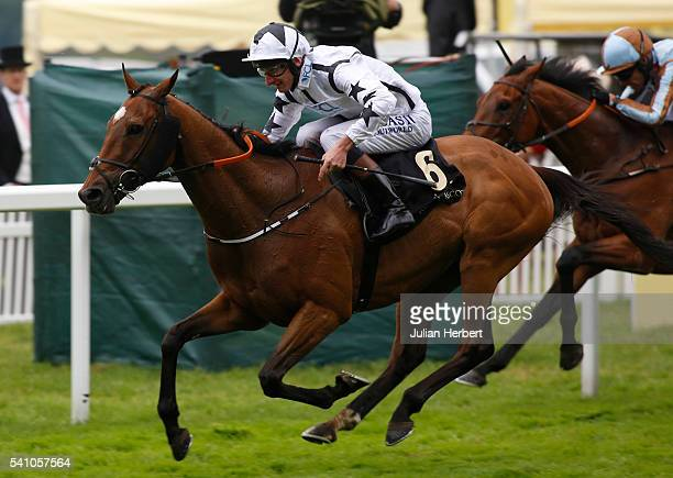 Commissioned ridden by Adam Kirby wins The Queen Alexandra Stakes Race run during Day Five of Royal Ascot at Ascot Racecourse on June 18 2016 in...