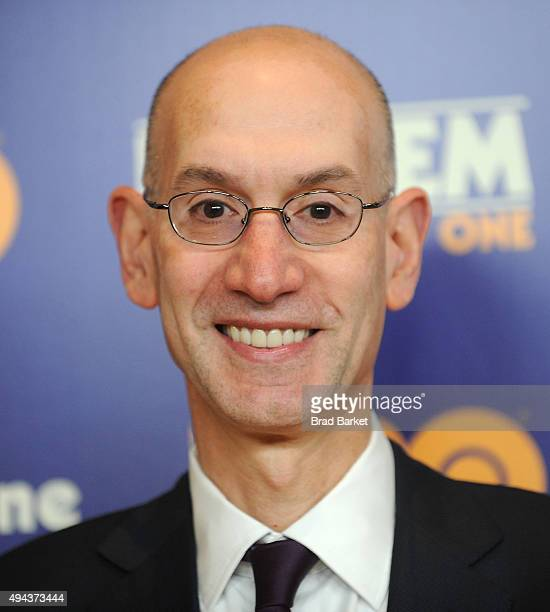 Commissioner Adam Silver attends the Kareem Minority Of One New York Premiere at Time Warner Center on October 26 2015 in New York City