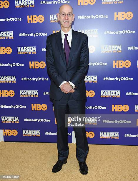 Commissioner Adam Silver attends the 'Kareem Minority Of One' New York Premiere at Time Warner Center on October 26 2015 in New York City