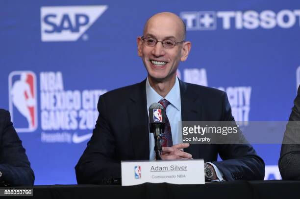 Commissioner Adam Silver during a press conference prior to of the Oklahoma City Thunder against the Brooklyn Nets as part of the NBA Mexico Games...