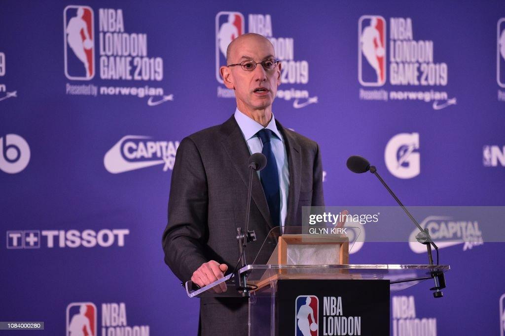 BASKET-GBR-USA-NBA-WIZARDS-KNICKS : News Photo