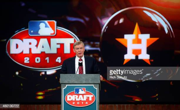 Commissioner Allan H. Bud Selig announces that the Houston Astros have selected Brady Aiken number one overall during the MLB First-Year Player Draft...