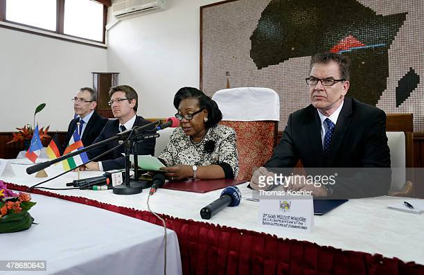 Commissioner Andris Piebalgs, French Development Minister Pascal Canfin, the President of the Central African Republic, Catherine Samba-Panza and...